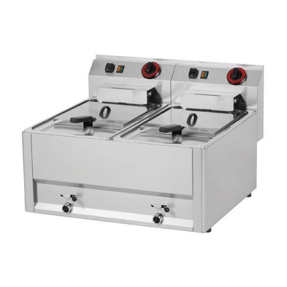 REDFOX FE 60 EL Olajsütő elektromos, kétmedencés 2x8L, asztali, 660mm, 6kW