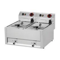 REDFOX FE 60 ELT Olajsütő elektromos, kétmedencés 2x8L, asztali, 660mm, 12kW