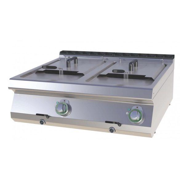 RM GASTRO FE 708-13 E Elektromos olajsütő 2x13 literes asztali, 800mm