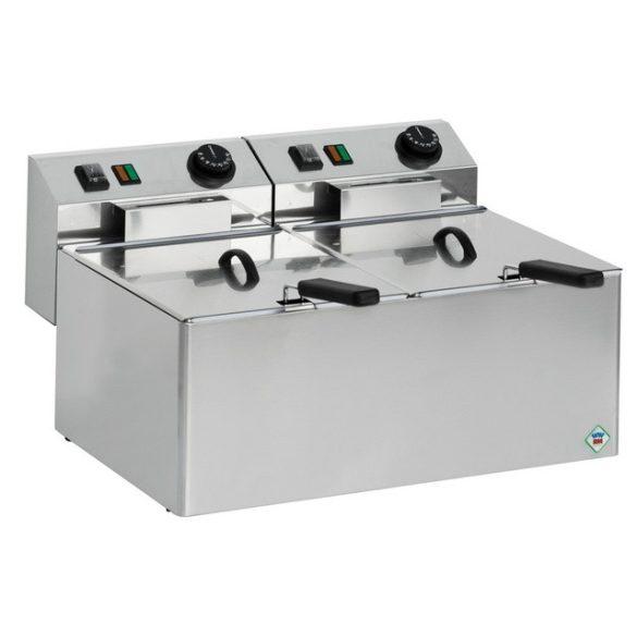 REDFOX FE 44 E Olajsütő elektromos, asztali 2x5 literes medencével, 360mm