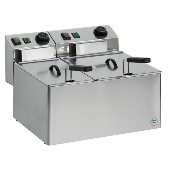 REDFOX FE 74 E Olajsütő elektromos, asztali kétmedencés, 8+5 literes medencével