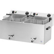 REDFOX FE 1010 T Olajsütő elektromos, asztali 2x11L medencés, 720mm, 2 kosárral