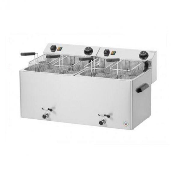 REDFOX FE 1010 TD Olajsütő elektromos, asztali 2x11L medencés, 720mm, 4 kosárral