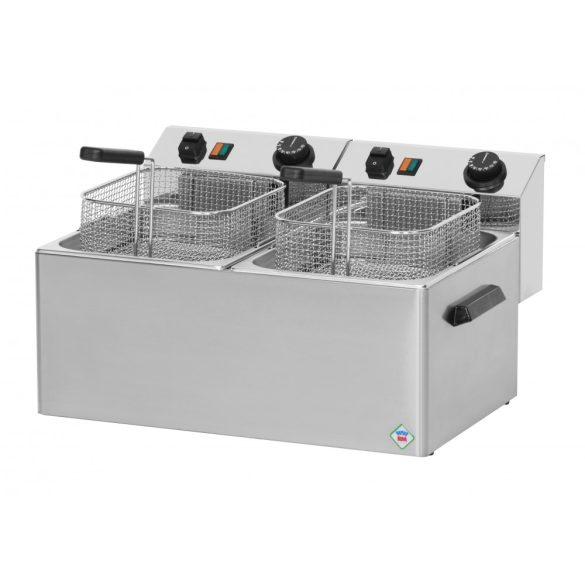 REDFOX FE 77 Olajsütő elektromos, asztali 2x8L medencés, 540mm