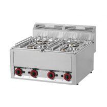 REDFOX SP 60 GL Gáztűzhely asztali, 4 égőrózsával (2x 3kW + 2x 3,6kW)