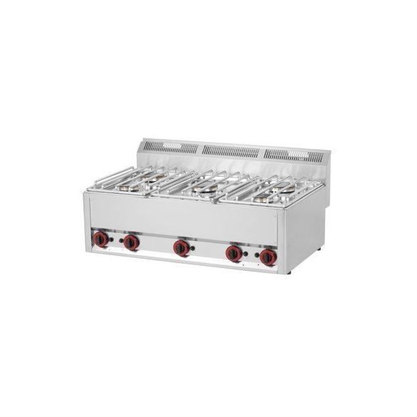 REDFOX SP 90/5 GL Gáztűzhely asztali, 5 égőrózsával (2x 3kW + 3x 3,6kW)