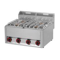 REDFOX SP 60 GLS Gáztűzhely, asztali kialakítás, 4*4,5 kW égőrózsával