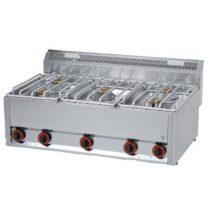 REDFOX SP 90/5 GLS Gáztűzhely, asztali kialakítás, 5*4,5 kW égőrózsával