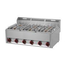 REDFOX SP 90 GLS Gáztűzhely, asztali kialakítás, 6*4,5 kW égőrózsával