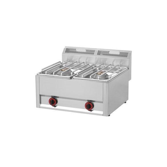 REDFOX SP 62 GLS Gáztűzhely, asztali kialakítás, 2*8 kW égőrózsával