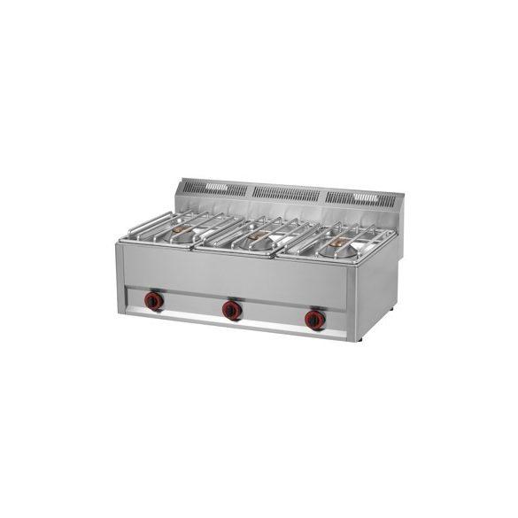 REDFOX SP 93 GLS Gáztűzhely, asztali kialakítás, 3*8 kW égőrózsával