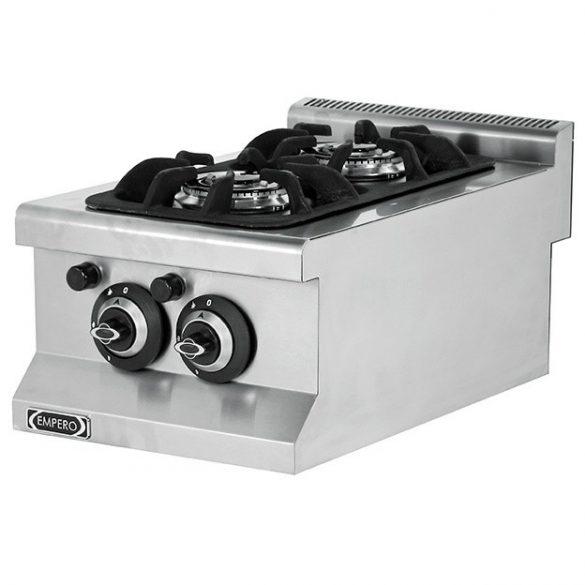 Asztali gáztűzhely, 2 égős, 5,3kW összteljesítménnyel – EMPEROEMP.6KG010