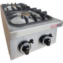 EMAX KGO-217 MA 1 Asztali gáztűzhely, 2 égős, 9kW