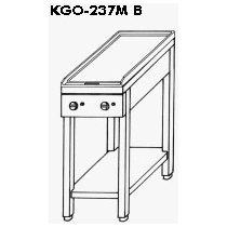 EMAX KGO-237 MB 2 Zártégős gáztűzhely (melegítőlap) nyitott tároló állványon, 4,2kW