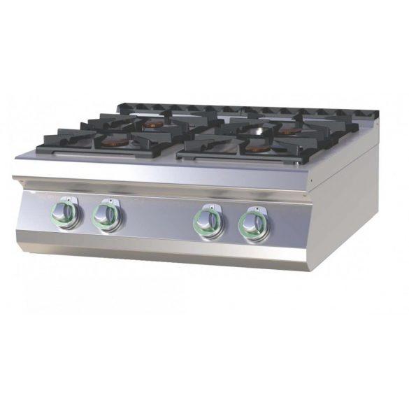 RM GASTRO SP 708 G Gáztűzhely asztali, 4 égős, 800mm (2x 4,5kW + 2x 7,5kW)