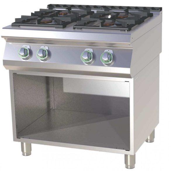 RM GASTRO SPS 780 G Gáztűzhely 4 égős, alsó nyitott tárolóval (2x 4kW + 2x 8,5kW)