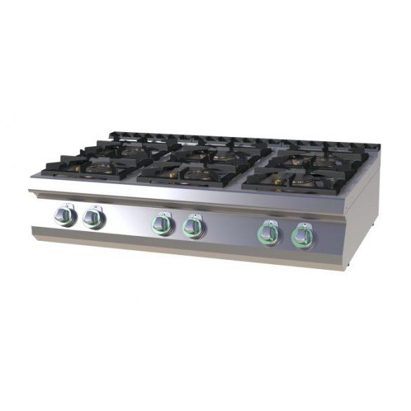 RM GASTRO SPS 7012 G Gáztűzhely asztali, 6 égős (4x 8,5kW + 2x 4kW)
