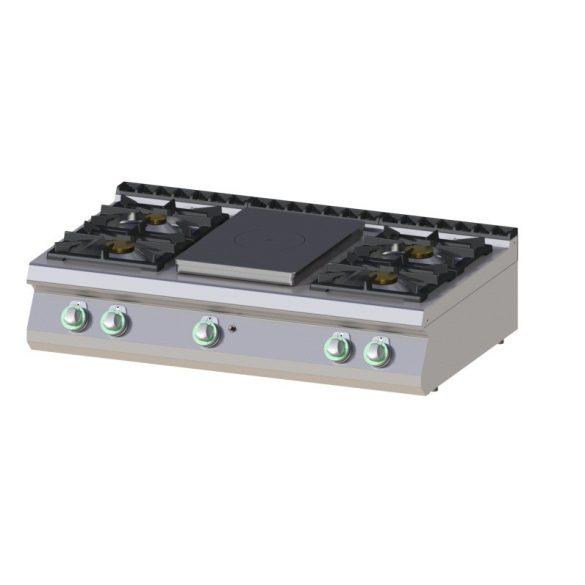 RM GASTRO STPS 7012 G Gáztűzhely asztali, 4 nyitott égős és középen zárt főzőlappal