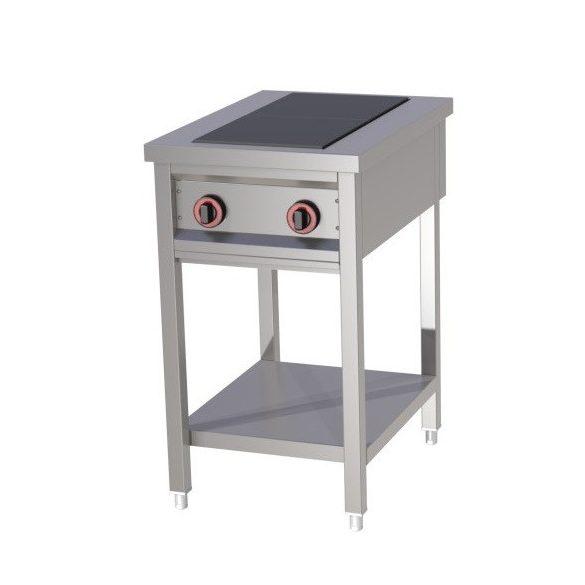 REDFOX SPF 50 Főzőasztal elektromos főzőlappal, szabadonálló (2x 3kW)