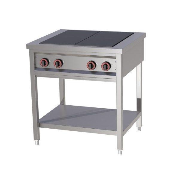 REDFOX SPF 80 Főzőasztal elektromos főzőlappal, szabadonálló (4x 3kW)