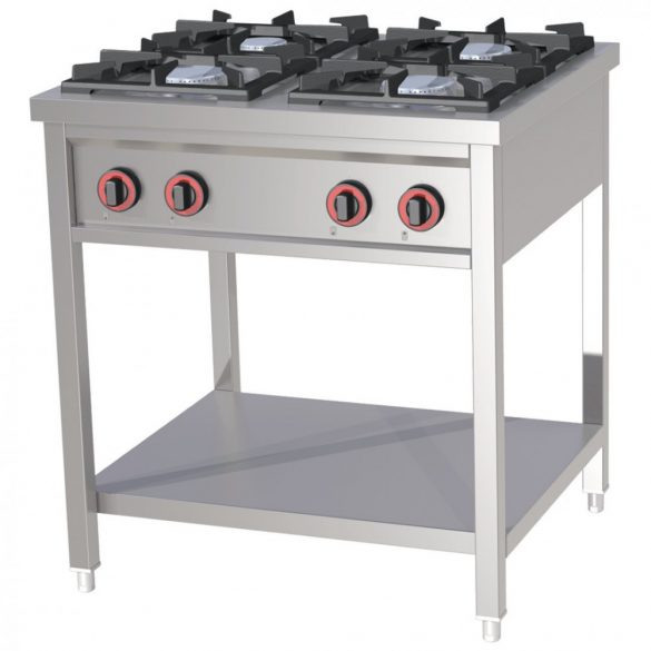 REDFOX SPF 80 G Főzőasztal 4 gázégős, szabadonálló (3x 7kW + 4kW)