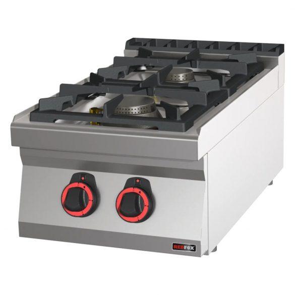 REDFOX SP 70/04 G Gáztűzhely asztali, 2 égős, 400mm (4,5kW + 7,5kW)