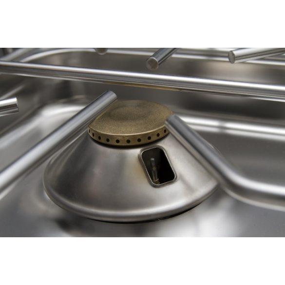 REDFOX SPT 90/80-11 GE Gáztűzhely 4 égőrózsával, GN1/1 légkeveréses sütővel