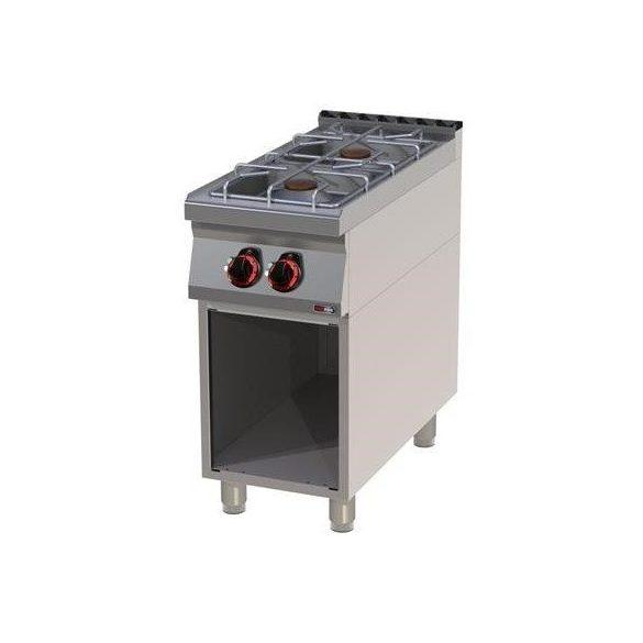 REDFOX SP 90/40 G Gáztűzhely 2 égőrózsával, nyitott tárolóval