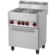REDFOX SPT 60 ELS Tűzhely elektromos 4 főzőlappal elektromos sütővel