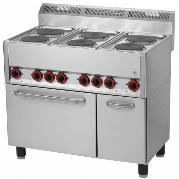 REDFOX SPT 90/5 ELS Tűzhely elektromos 5 főzőlappal elektromos sütővel és ajtós tárolóval