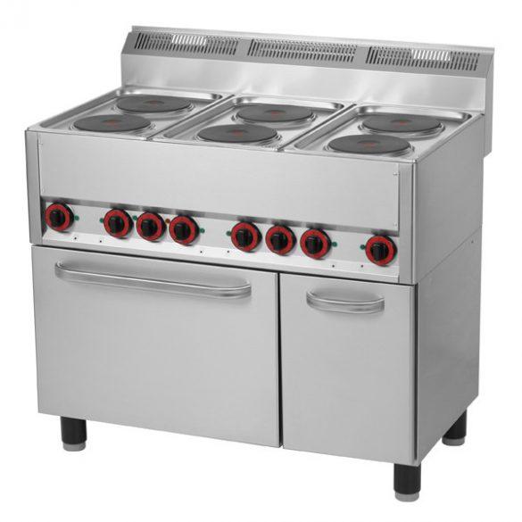 REDFOX SPT 90 ELS Tűzhely elektromos 6 főzőlappal, elektromos sütővel és ajtós tárolóval