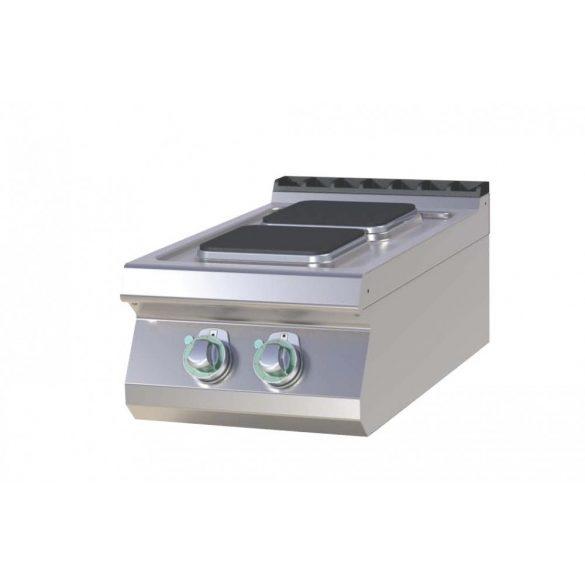 RM GASTRO SPQ 704 E Tűzhely elektromos asztali, két négyzet alakú főzőlappal, 400mm