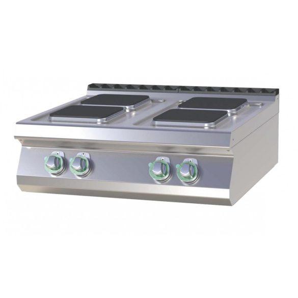 RM GASTRO SPQ 708 E Tűzhely elektromos asztali, négy négyzet-főzőlappal, 800mm