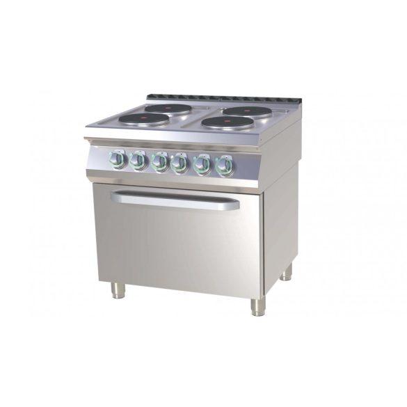 RM GASTRO SPT 780-21 E Tűzhely elektromos, 4 főzőlappal, statikus sütővel, 800mm