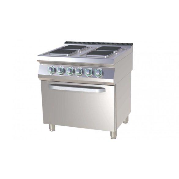 RM GASTRO SPQT 780-21 E Tűzhely elektromos, 4 négyzet-főzőlappal, statikus sütővel, 800mm
