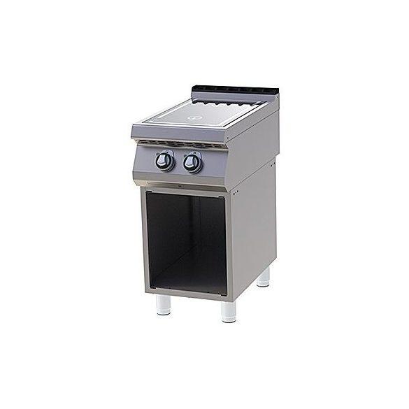 RM GASTRO SPI 740  ES Indukciós tűzhely nyitott alsó szekrénnyel, 2x5kW, 400mm