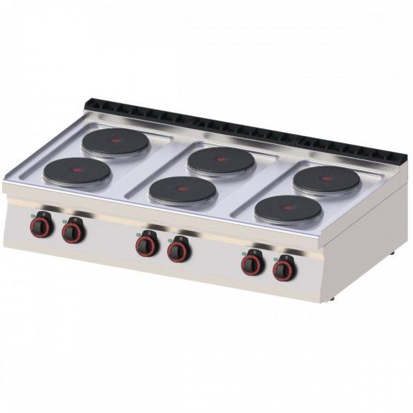 REDFOX SP 70/012 E Tűzhely elektromos asztali, hat főzőlapos, 1200mm
