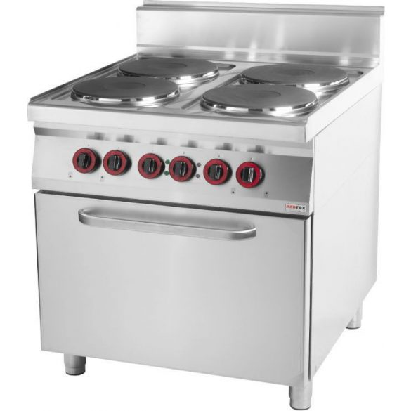 REDFOX SPT 90/80-11 E Tűzhely elektromos 4 főzőlappal, légkeveréses sütővel