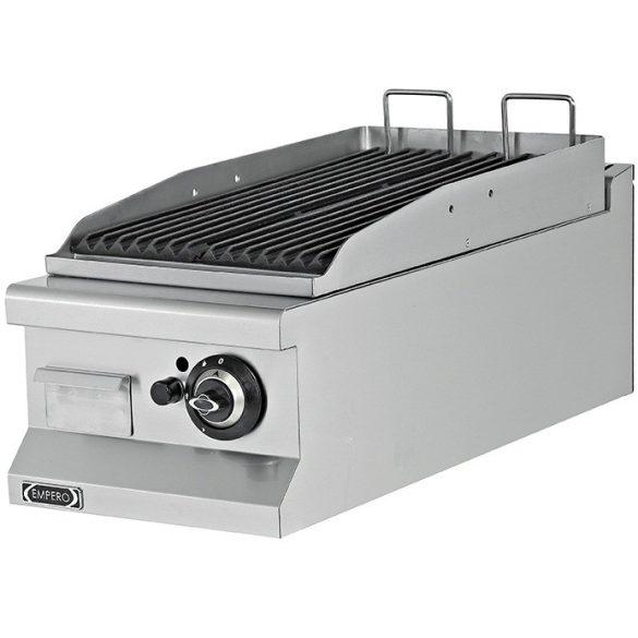 Asztali lávaköves grill, gázüzemű, 400mm – EMPEROEMP.7LG010