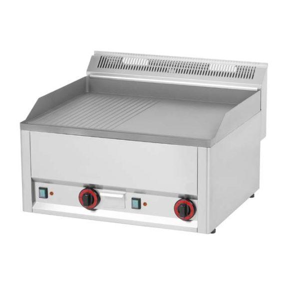 REDFOX FTHR 60 EL Szeletsütő lap 1/2 sima és 1/2 bordázott felülettel, elektromos, asztali 660 mm