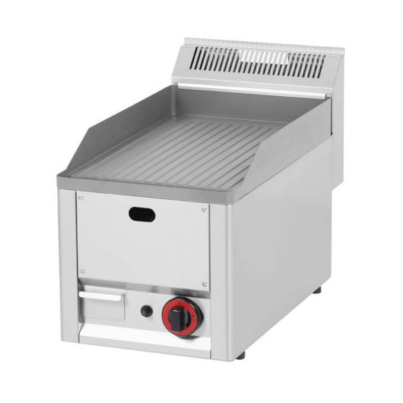 REDFOX FTR 30 GL Szeletsütő lap bordázott sütőfelülettel, gázüzemű, asztali, 330mm