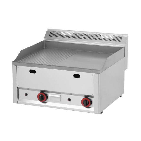 REDFOX FTHR 60 GL Szeletsütő lap 1/2 sima és 1/2 bordázott felülettel, gázüzemű, asztali.