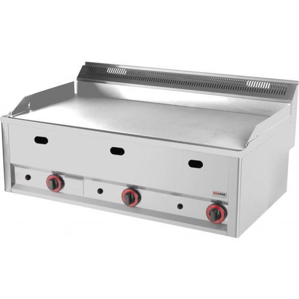 REDFOX FTH 90 GL Szeletsütő lap nagyméretű sima sütőfelülettel, gázüzemű, asztali, 990mm