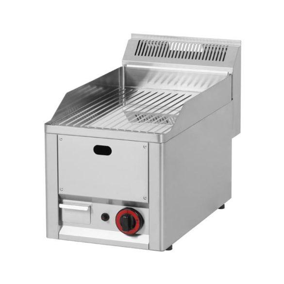 REDFOX FTRC 30 GL Szeletsütő lap bordázott króm sütőfelülettel, gázüzemű, asztali 330mm