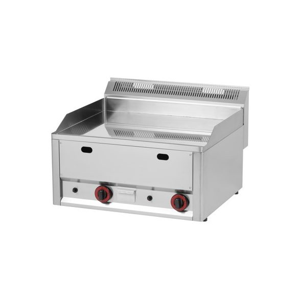 REDFOX FTHC 60 GL Szeletsütő lap sima króm felülettel, gázüzemű asztali 660mm