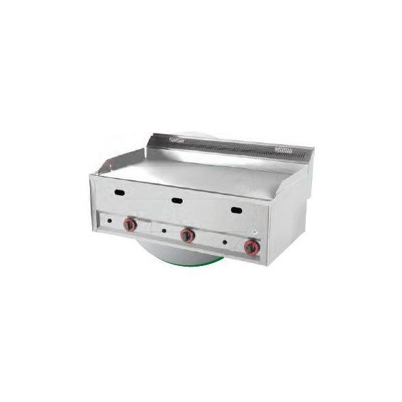 REDFOX FTHC 90 GL Szeletsütő lap nagyméretű sima króm sütőfelülettel, gázüzemű, asztali, 990mm