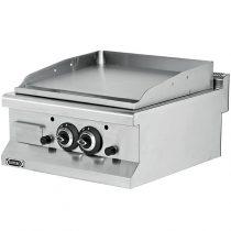 Szeletsütő lap sima krómozott sütőfelülettel, gázüzemű, asztali, 600mm – EMPERO EMP.6IG020+CHROME