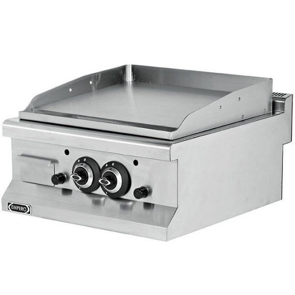 Szeletsütő lap sima krómozott sütőfelülettel, gázüzemű, asztali, 600mm – EMPEROEMP.6IG020+CHROME