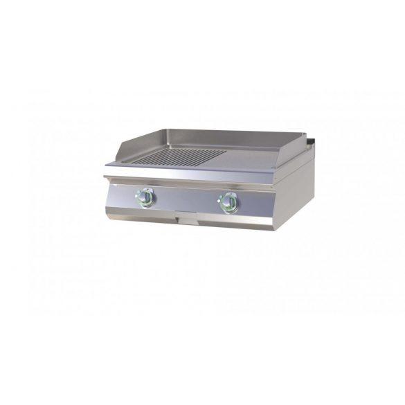 RM GASTRO FTHRC 708 E Szeletsütő lap 1/2 sima, 1/2 bordázott króm sütőfelülettel, elektromos asztali, 800mm