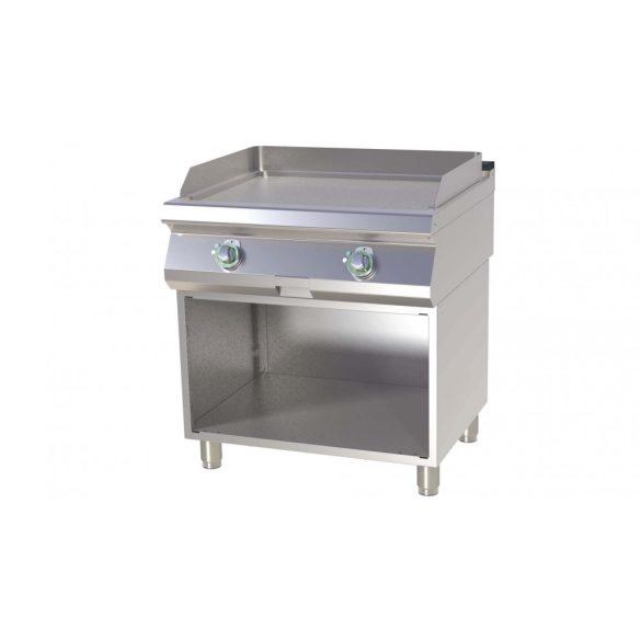 RM GASTRO FTHC 780 E Szeletsütő lap elektromos, sima króm sütőfelülettel, alsó nyitott tárolóval, 800mm